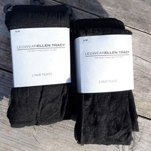 2 packs 4 pair Ellen Tracy Tights Size: S/M